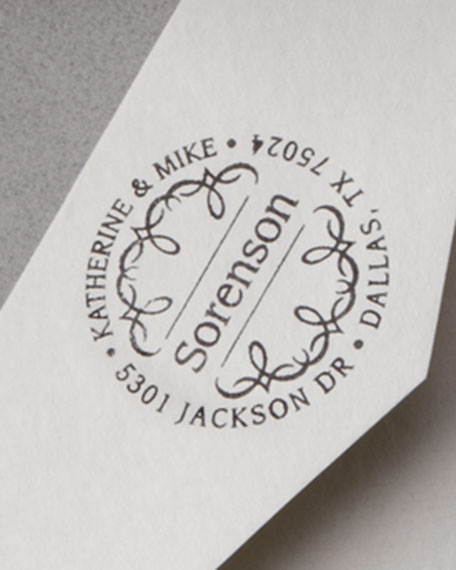 Scroll Address Stamp
