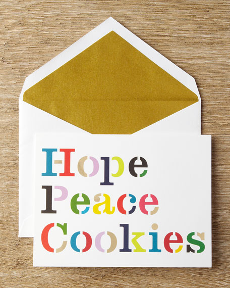 10 Hope, Peace, Cookies Cards