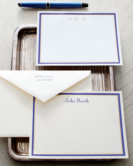 50 Blue & Gold Cards/Plain Envelopes
