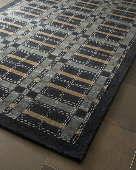 Kevin Plaid Rug, 4' x 6'