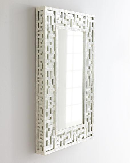 Capiz Fretwork Mirror