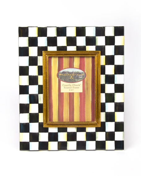 MacKenzie-Childs Large Courtly Check Photo Frame