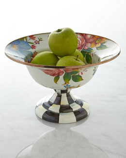 MacKenzie-Childs Large Flower Market Compote