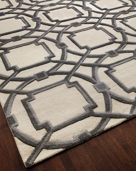 Global Views Gray Abstract Rug, 6' x 9'