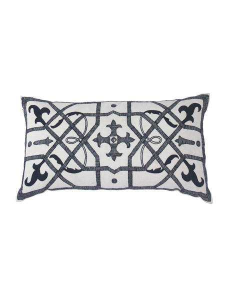 Blue Kaleidoscope Pillow