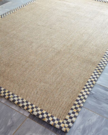 "Courtly Check Sisal Runner, 2'5"" x 9'"