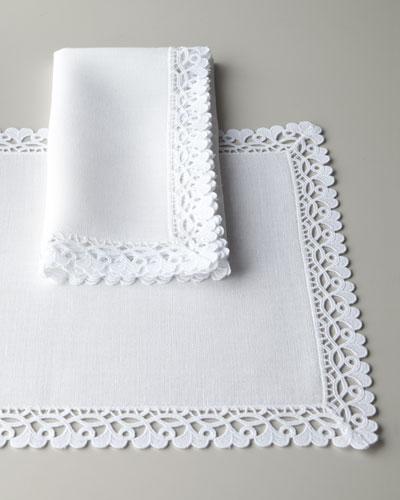 "68"" x 126"" Oblong Ricamo Tablecloth"