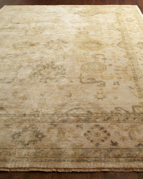 Oushak Neutrals Rug, 4' x 6'