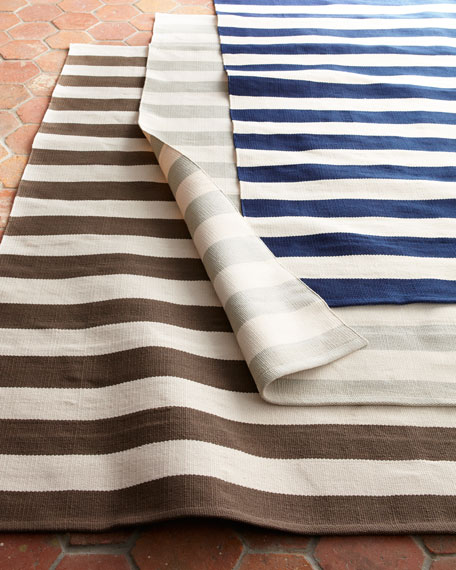 "Seaside Stripe Outdoor Runner, 2'5"" x 8'"