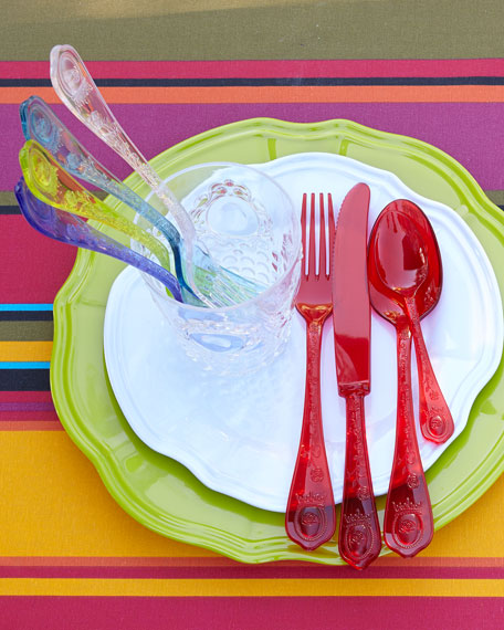 """Baroque"" Acrylic Flatware, Four-Piece Place Setting"
