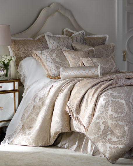 Darby Standard Damask Sham with Cording