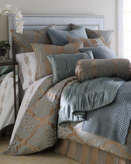 Fino Lino Linen & Lace Tiara Neckroll Pillow,