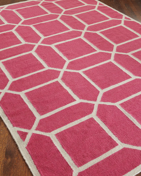 Exquisite Rugs Octagonal Maze Flatweave Rug & Matching