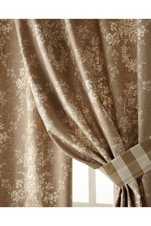 """Sherry Kline Home Two 52""""W x 96""""L Country House Toile Curtains"""