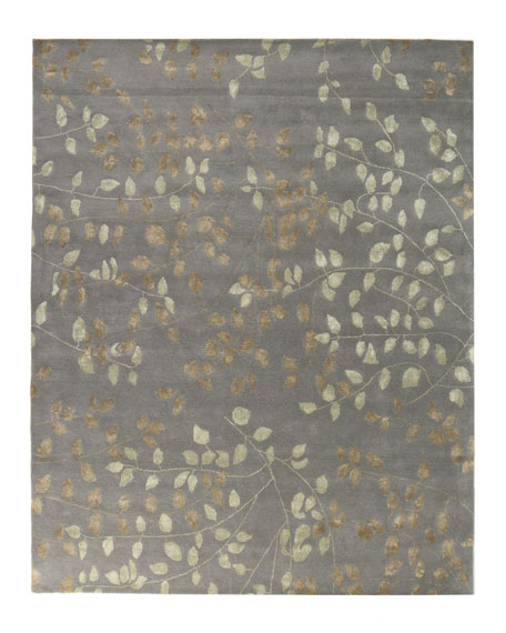 Tufted Leaves Rug, 4' x 6'