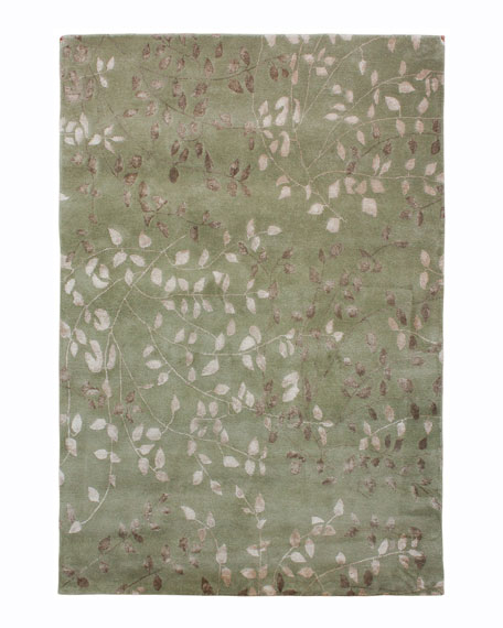 Tufted Leaves Rug, 8' x 10'