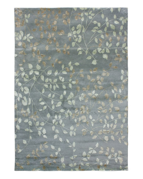Tufted Leaves Rug, 9' x 12'