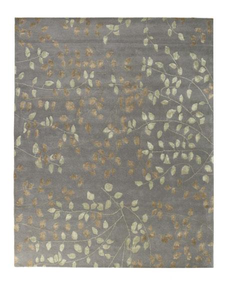 Tufted Leaves Rug, 10' x 14'