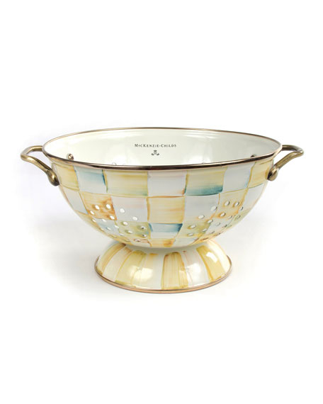 MacKenzie-Childs Large Parchment Check Colander