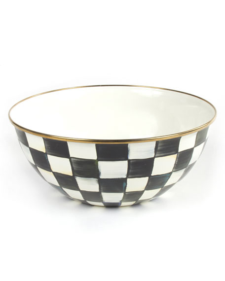 MacKenzie-Childs Large Courtly Check Everyday Bowl
