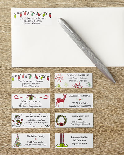 400 Holiday Address Labels