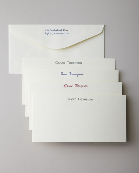 50 Oversized Correspondence Cards with Personalized Envelopes