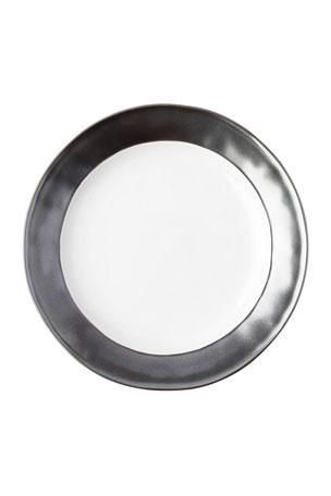 Juliska Emerson White/Pewter Dinner Plate