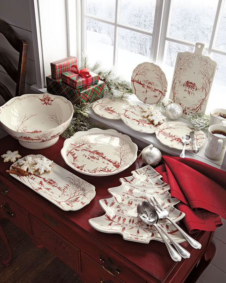 Ruby Winter Holiday Hostess Tray