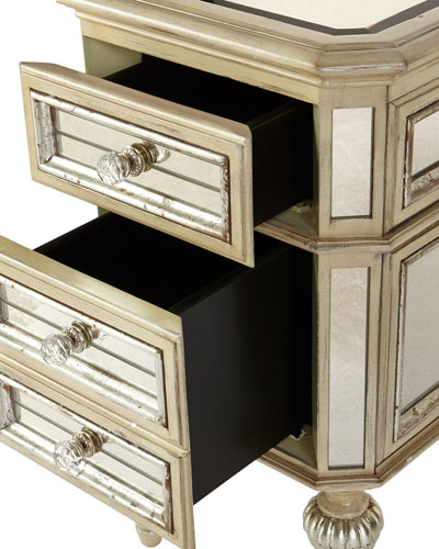 Dresden Mirrored Side Table