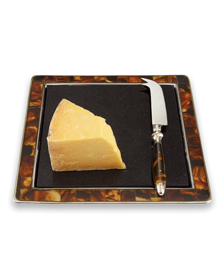 """Tortoise"" Cheese Board and Knife"