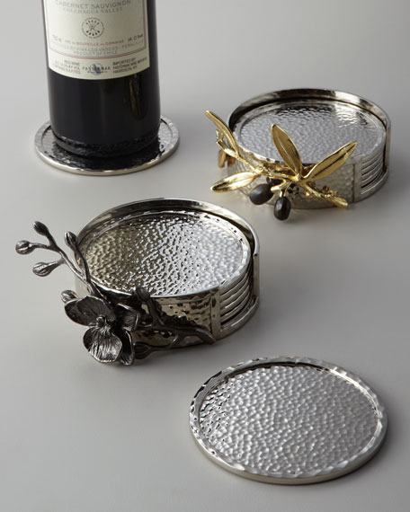 Michael Aram Black Orchid Coaster Set