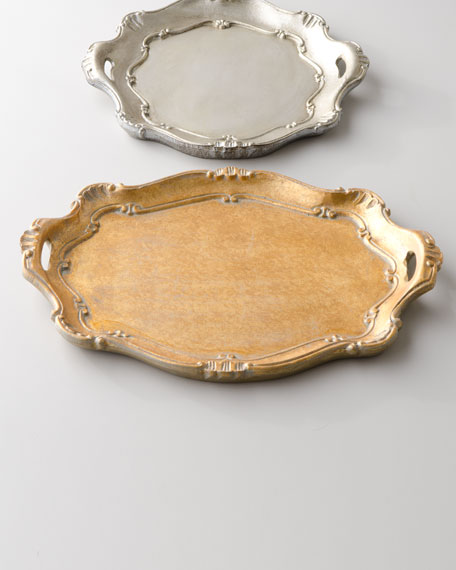 Metallic Baroque Charger Plates
