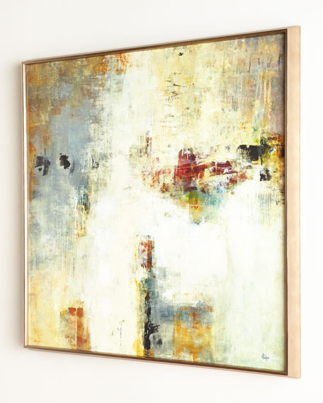"""Connectivity"" Framed Abstract Giclee on Canvas Wall Art"