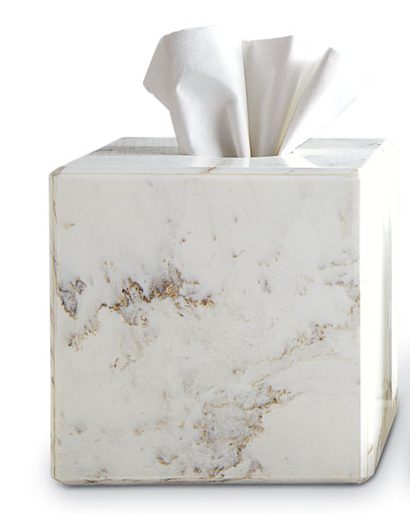 Waterworks Studio Marble Tissue Box Cover
