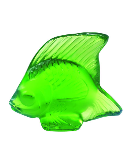 Lalique Green Angelfish Figurine