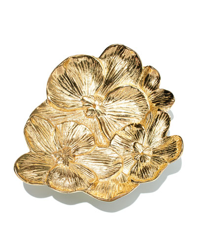 Gold Orchid Mini Dish