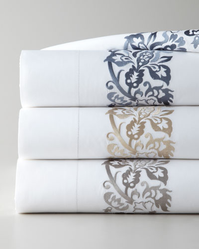 Two Standard 406TC Embroidered Pillowcases
