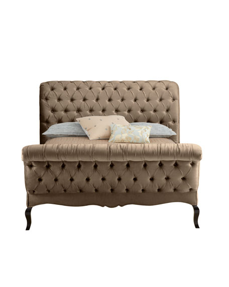 Taupe Tufted King Bed