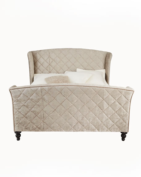 """Silver Valley"" Queen Sleigh Bed"