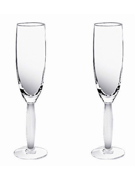 Lalique Two Diamant Flutes