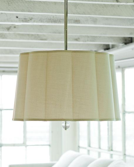 Regina-Andrew Design Scalloped-Shade 3-Light Pendant