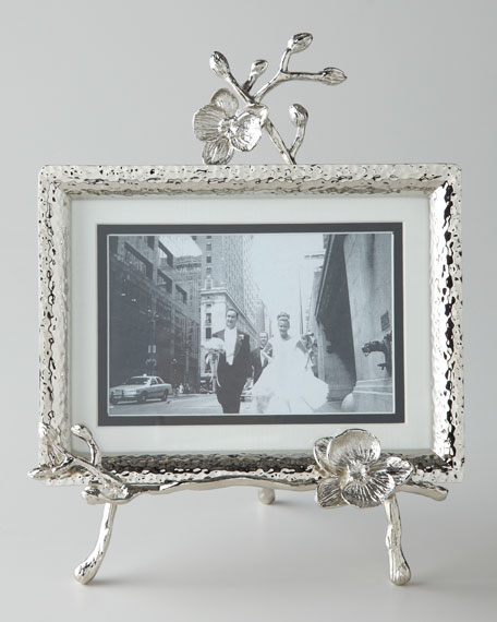 michael aramwht orchid easel frame