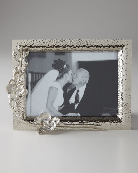 "White Orchid 5"" x 7"" Photo Frame"