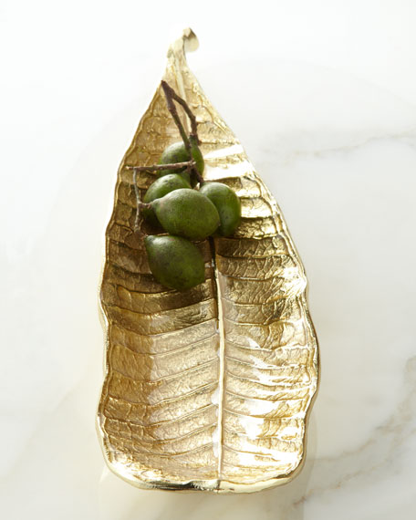 Michael Aram Champa Leaf Cracker Plate