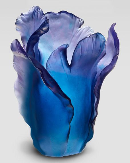 Blue Tulip Vase