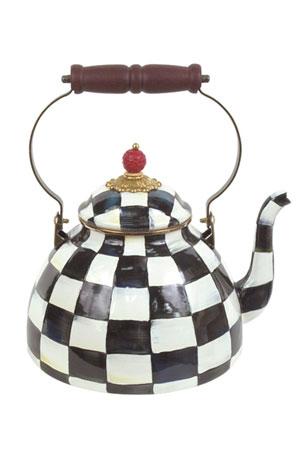 MacKenzie-Childs Courtly Check Three-Quart Tea Kettle