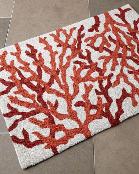 hooked coral bath rug