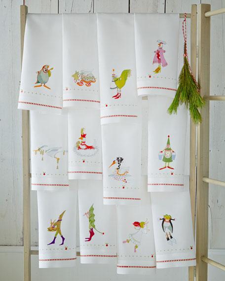 12 Days of Christmas Tea Towel Set