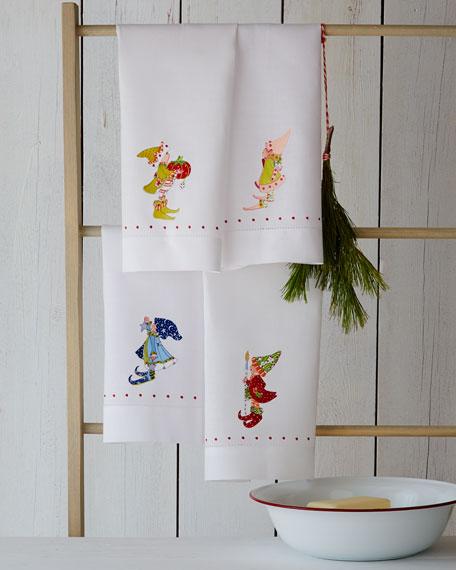 Four Elf Tea Towels