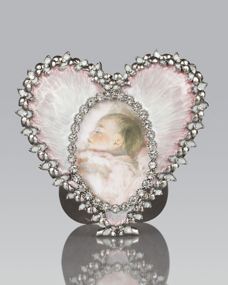 Pale Pink Oval & Heart Frame